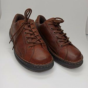 GBX Mens Oxford Shoes Brown Casual Round Toe Sz 11